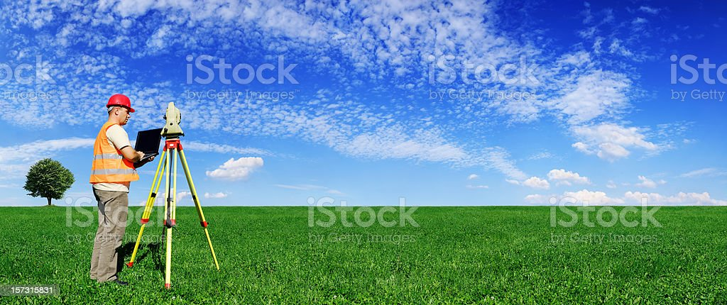 Surveyor (XXXL size) stock photo