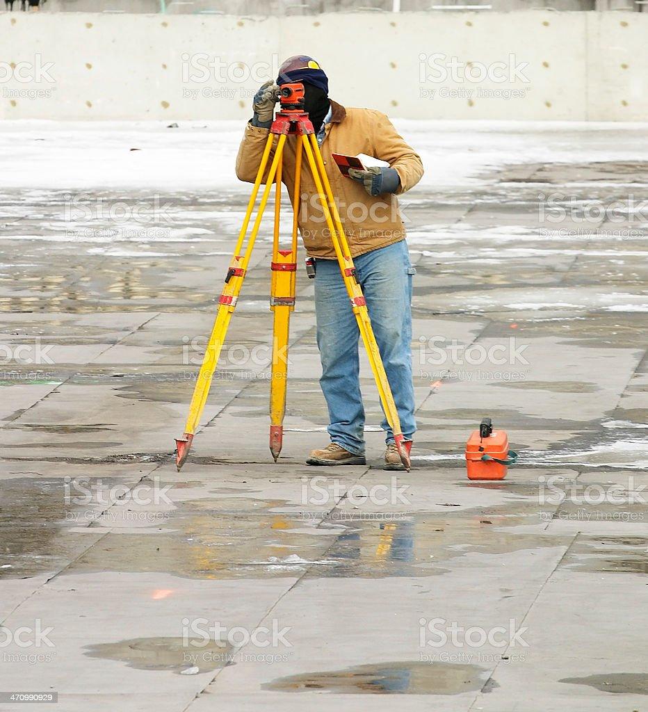 Surveyor royalty-free stock photo