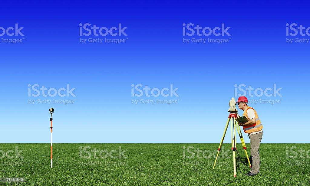Surveyor (XXXL size) royalty-free stock photo