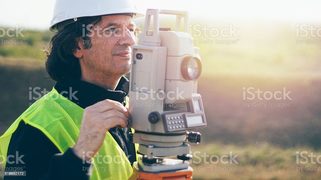 surveyor stock photo