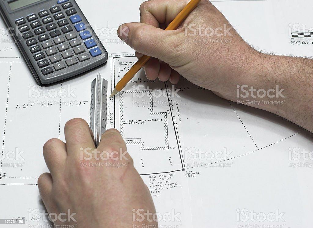 Surveyors Drawing stock photo