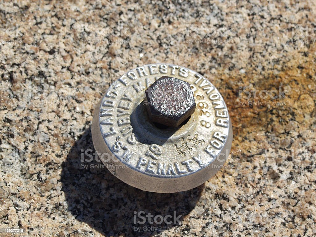 Surveyor's Marker royalty-free stock photo