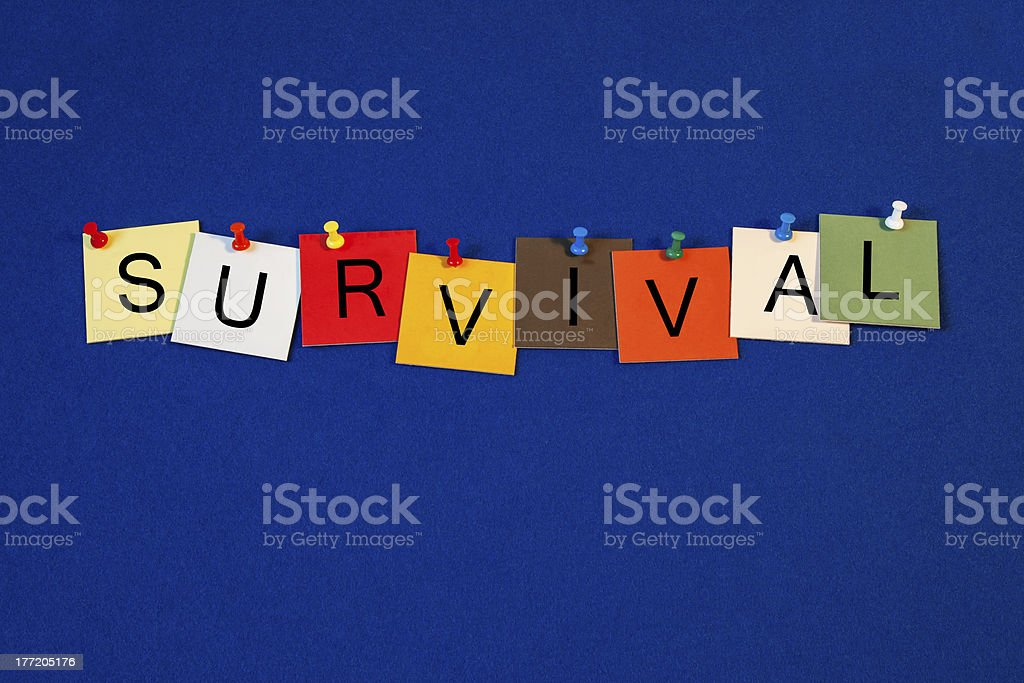 Survival - sign series for business terms. stock photo
