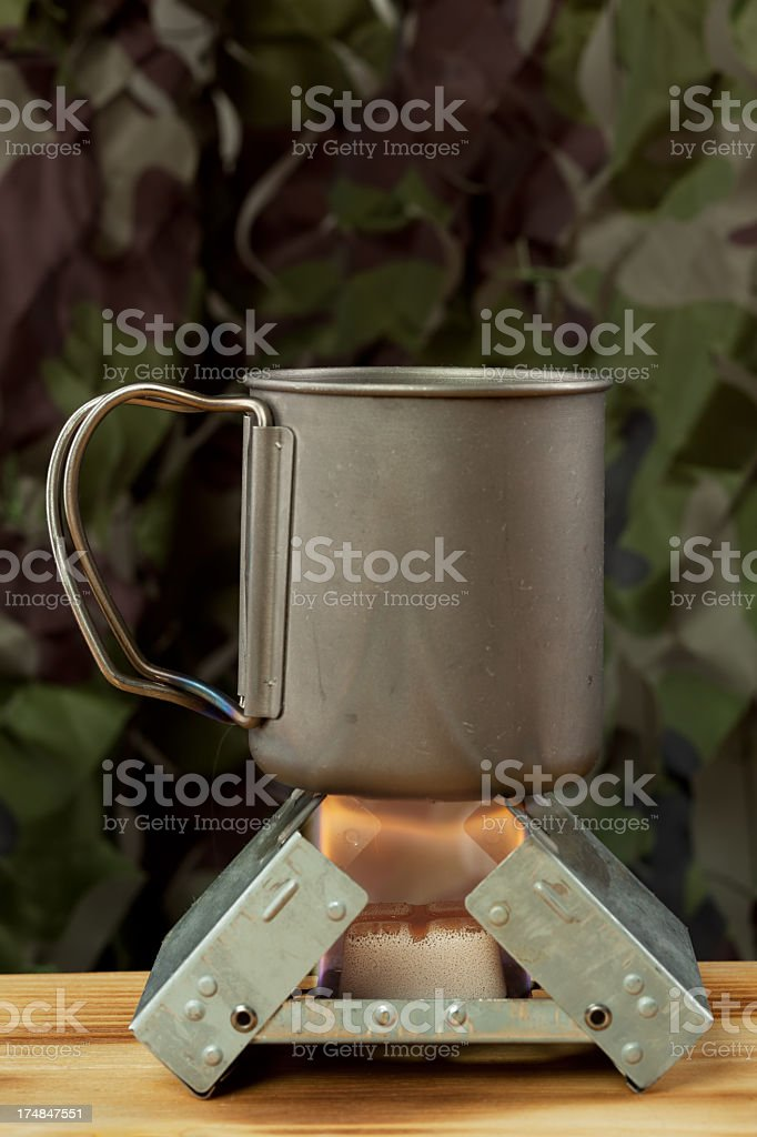 Survival tablet stove royalty-free stock photo