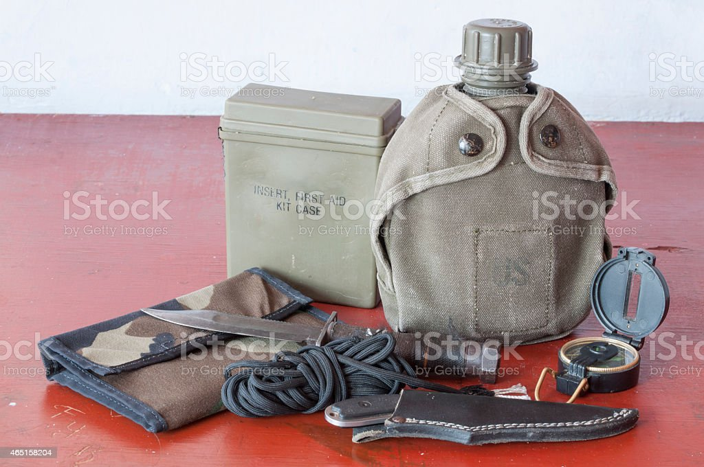 Survival tools stock photo