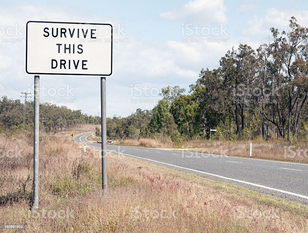 'Survive This Drive' royalty-free stock photo
