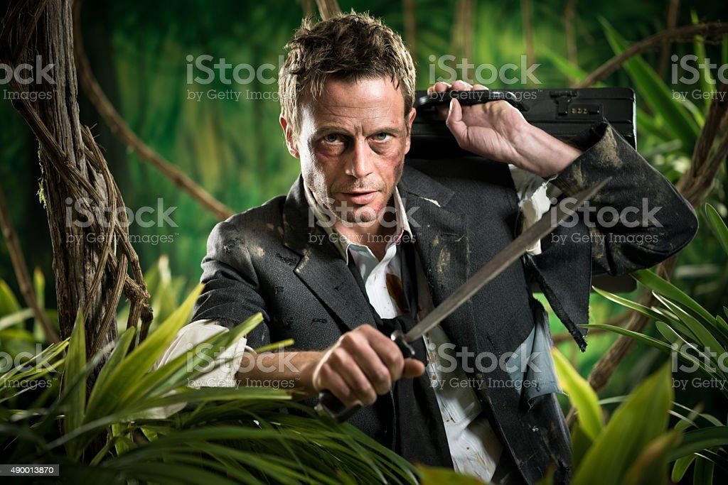 Surviving business jungle stock photo