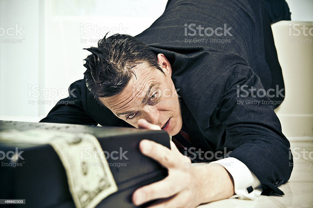 surviving businessman royalty-free stock photo