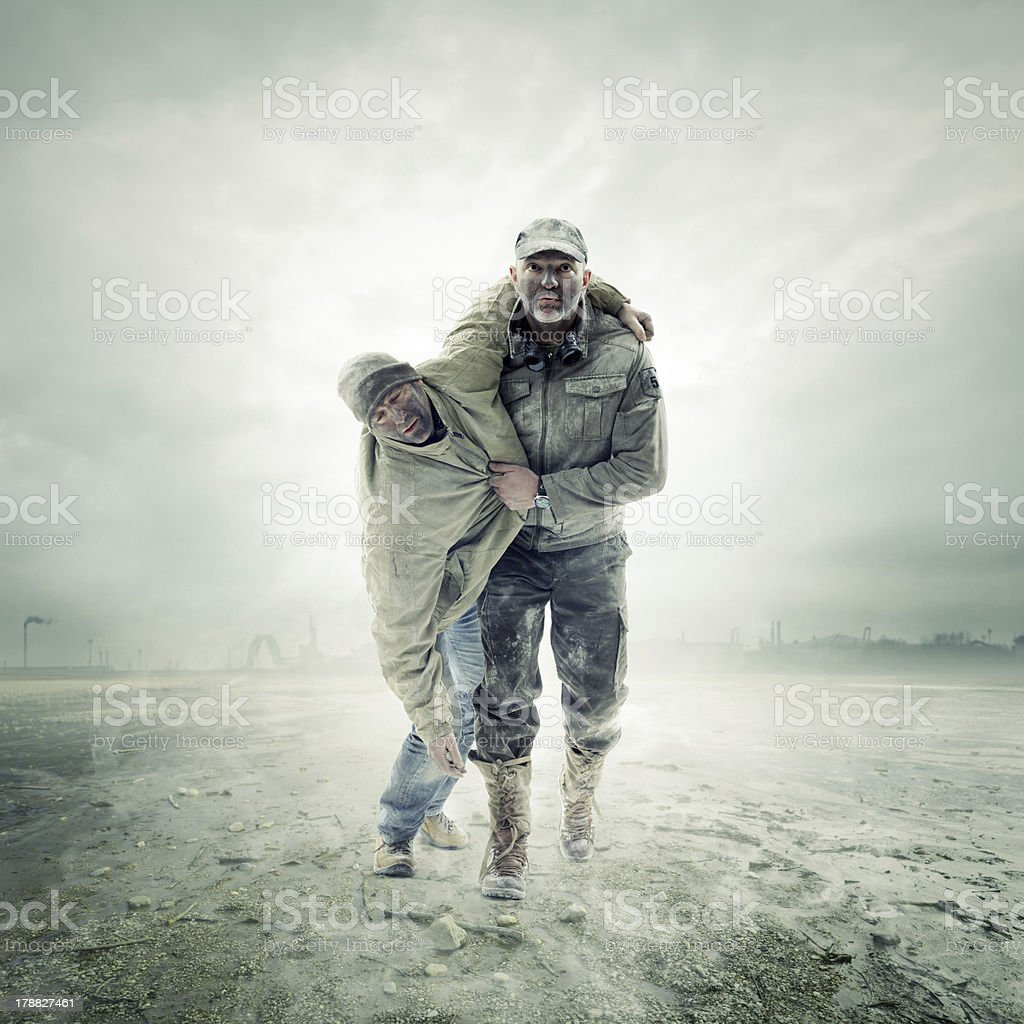 Survivors royalty-free stock photo