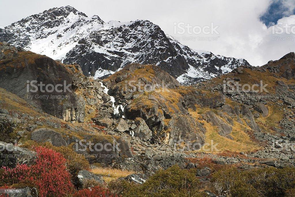 Surya peak near Gosainkunda, Nepal royalty-free stock photo