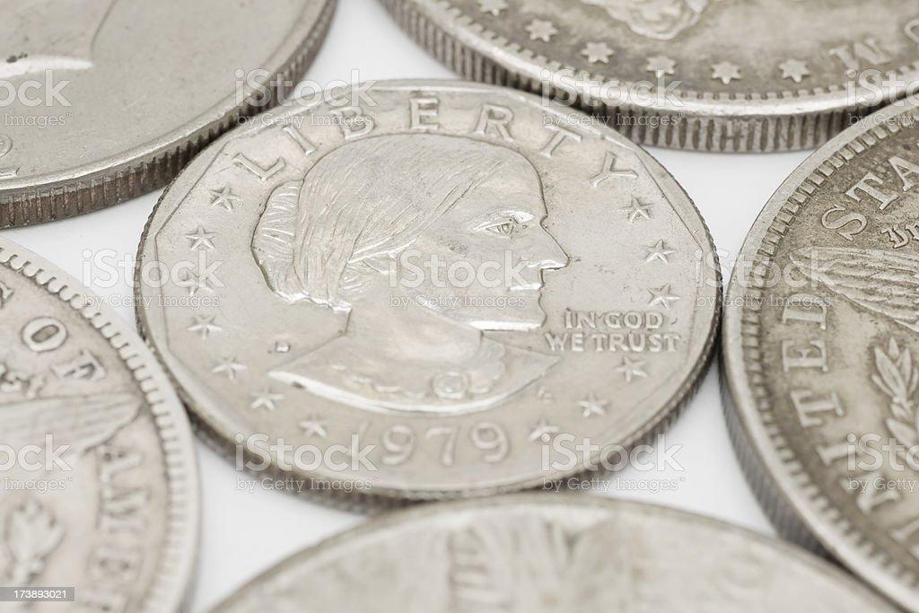 Susan B Anthony dollar coin USA stock photo