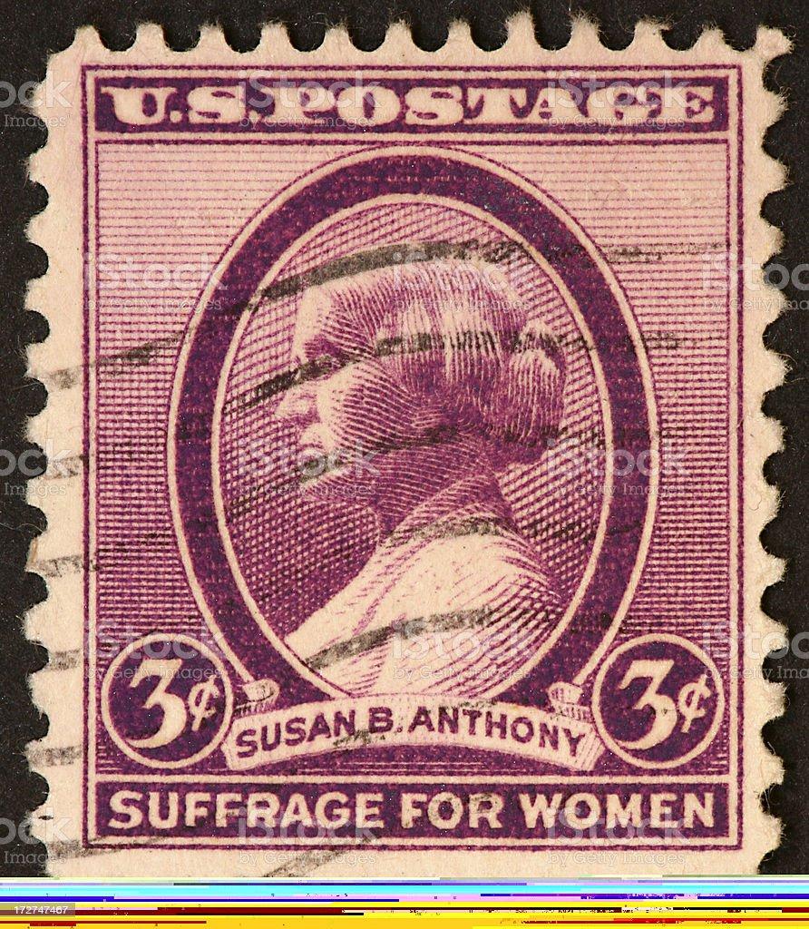 Susan B Anthony stamp stock photo