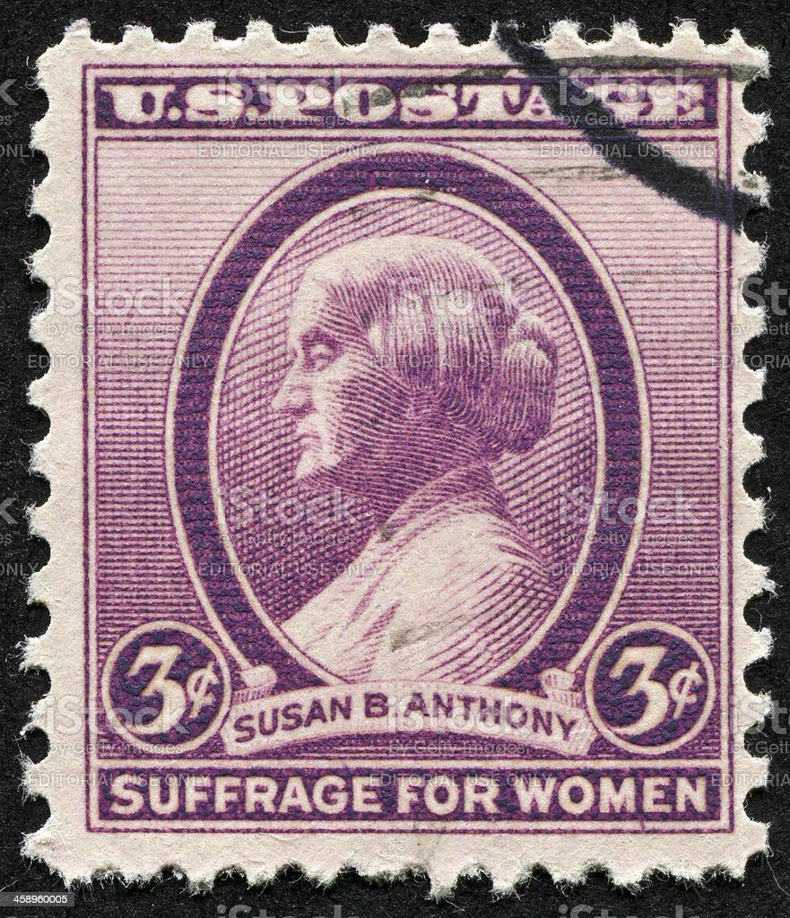Susan B. Anthony Stamp stock photo