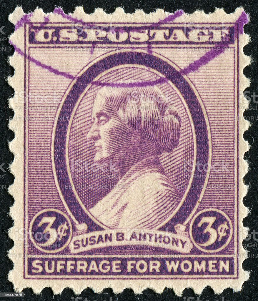 Susan B. Anthony Stamp royalty-free stock photo