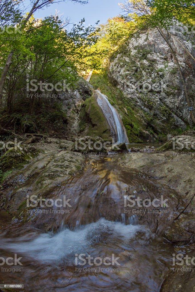 Susara waterfall in the Nera National Park, Romania stock photo