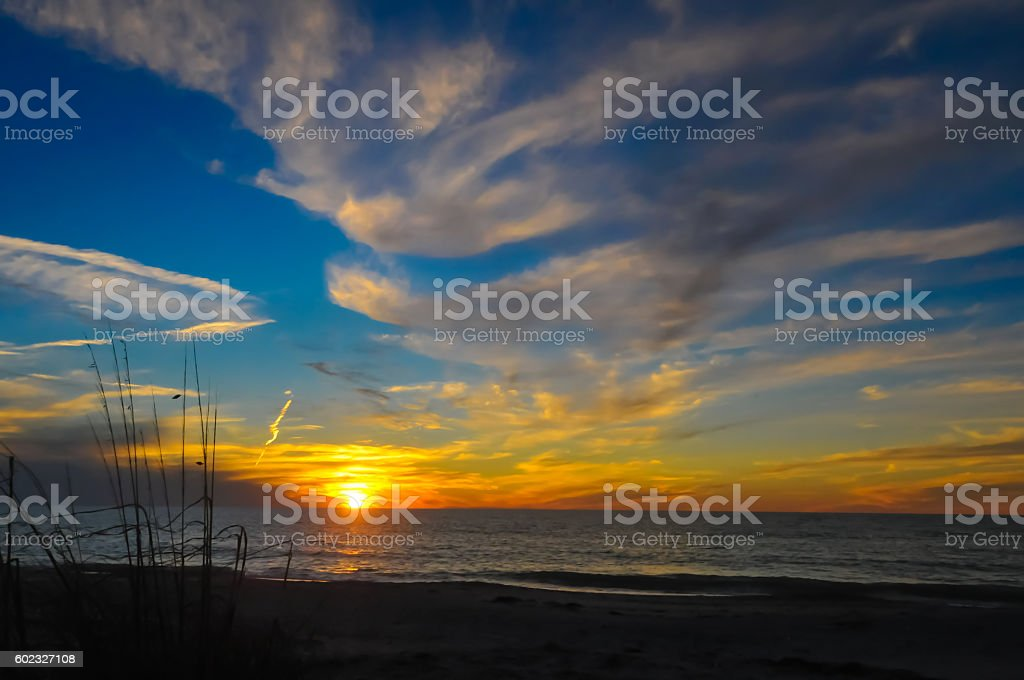 Suset at Clearwater Beach stock photo