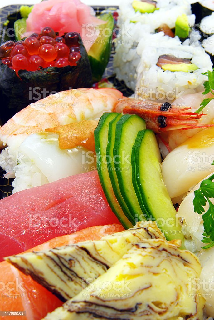 Sushi and nigri plate royalty-free stock photo