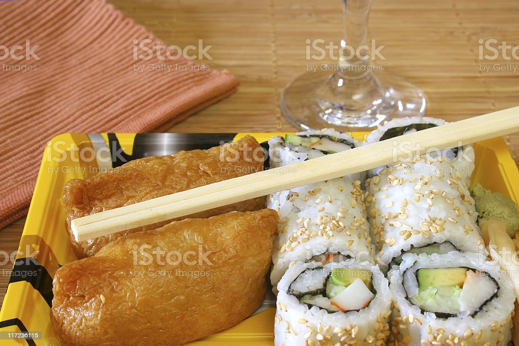 Sushi and Rice Rolls royalty-free stock photo