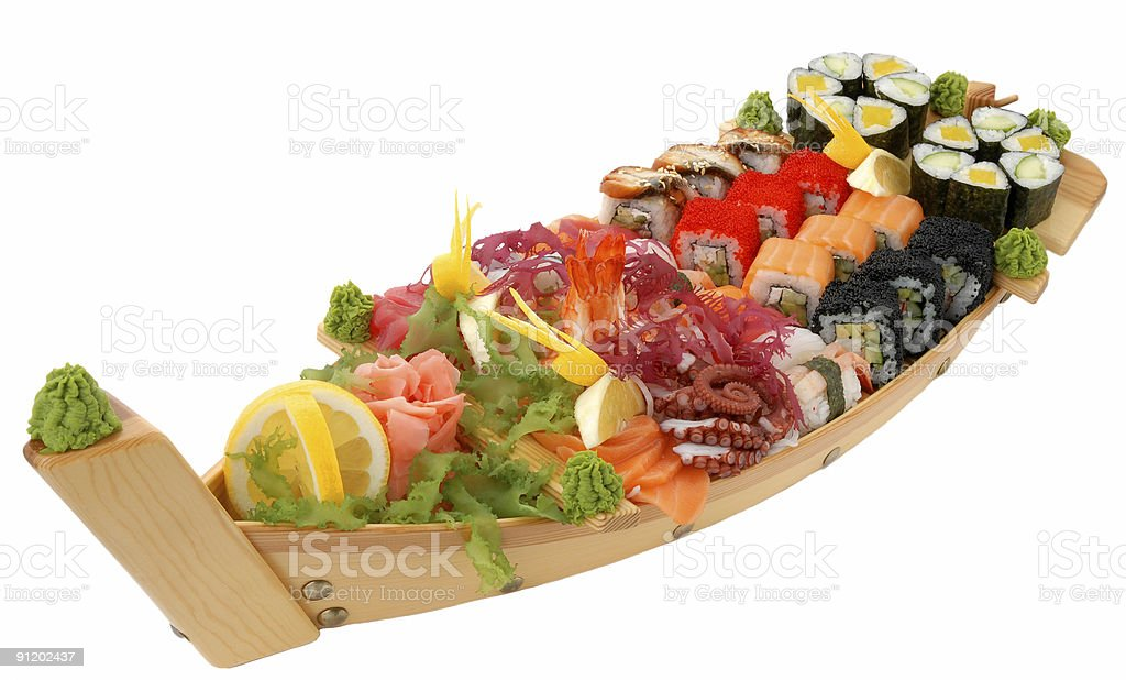 sushi and rolls royalty-free stock photo
