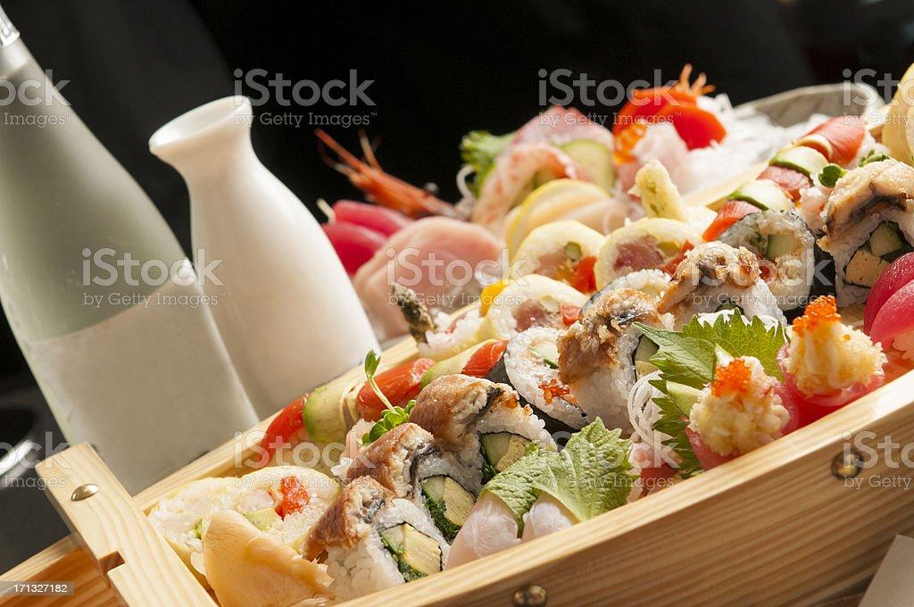 Sushi and Sake royalty-free stock photo