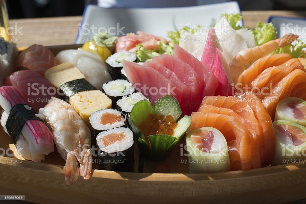 Sushi and Sashimi royalty-free stock photo