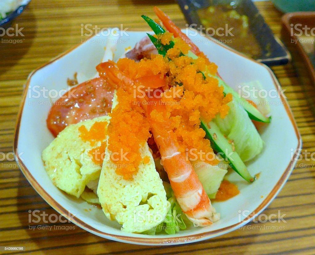 Sushi appetizer closeup at restaurant stock photo