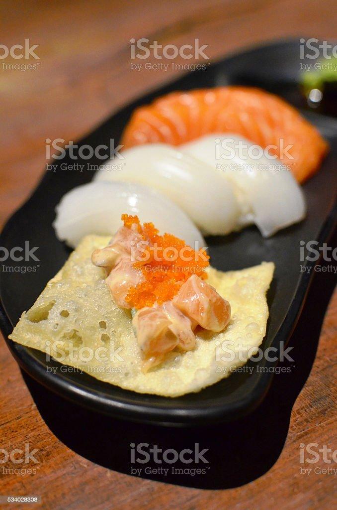Sushi appetizer stock photo