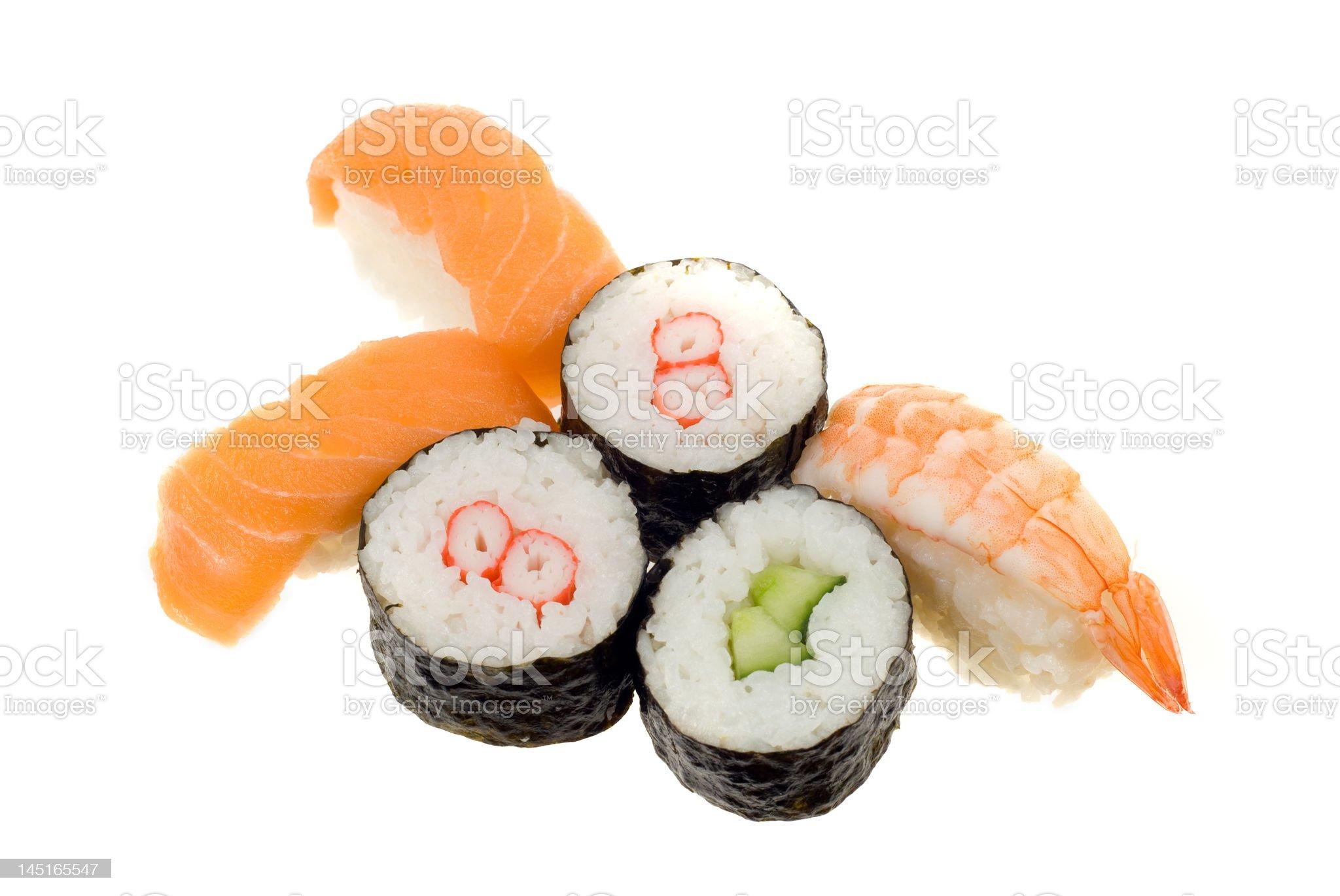 sushi assortment royalty-free stock photo