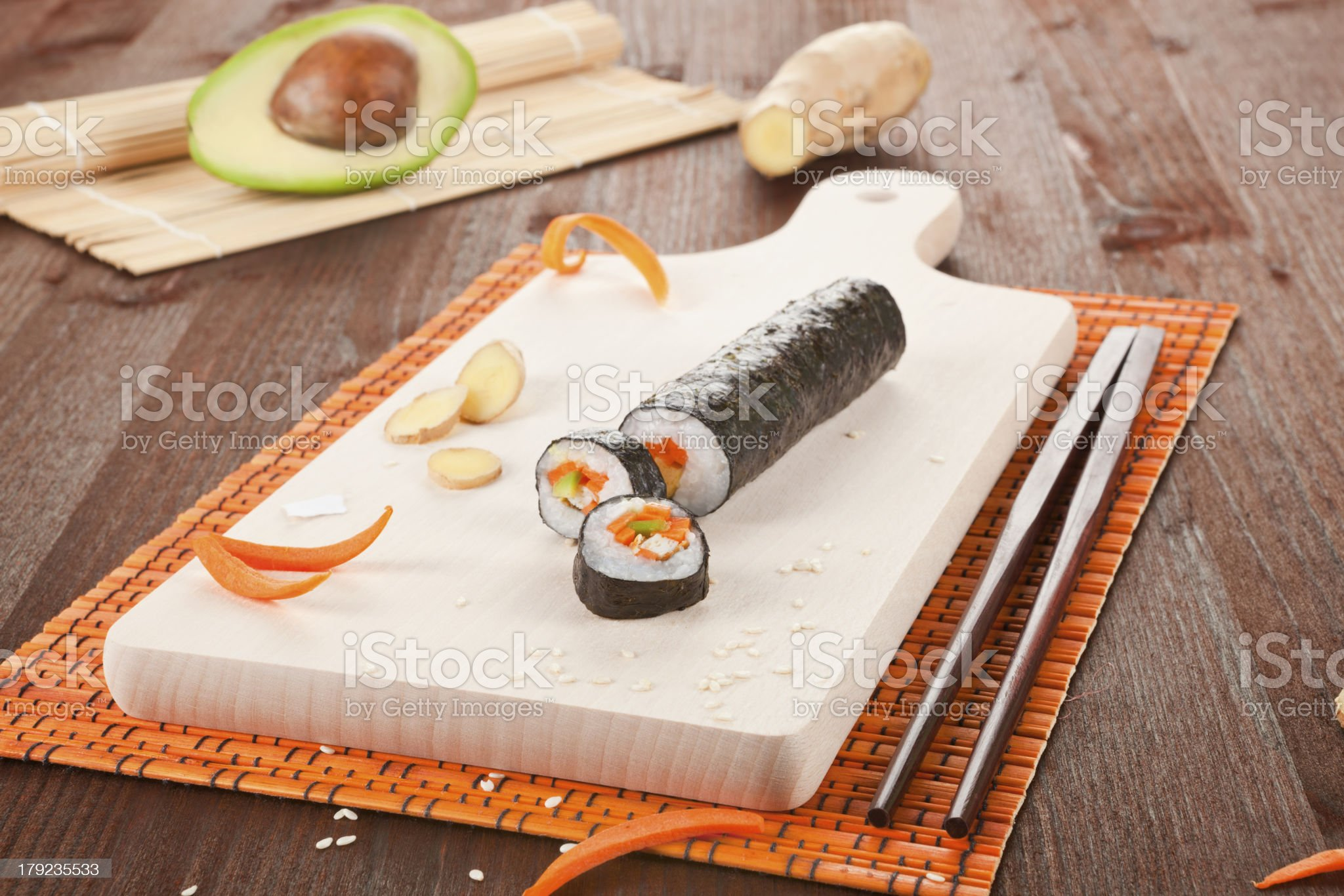 Sushi background. royalty-free stock photo