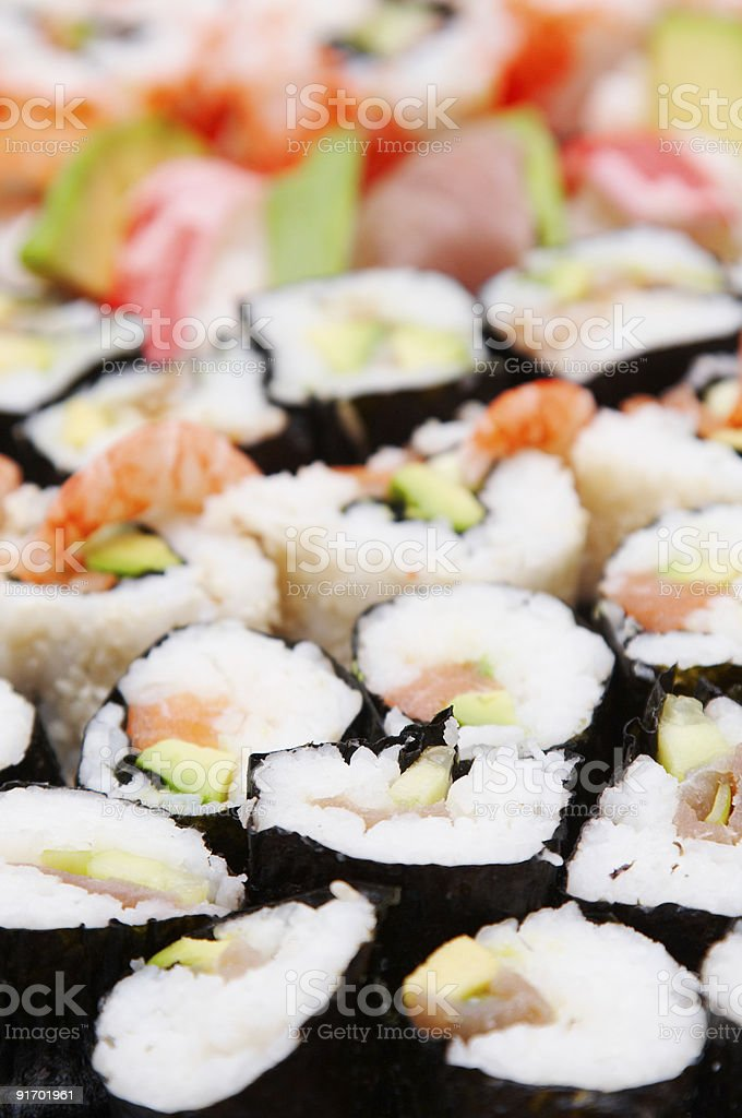 sushi background royalty-free stock photo