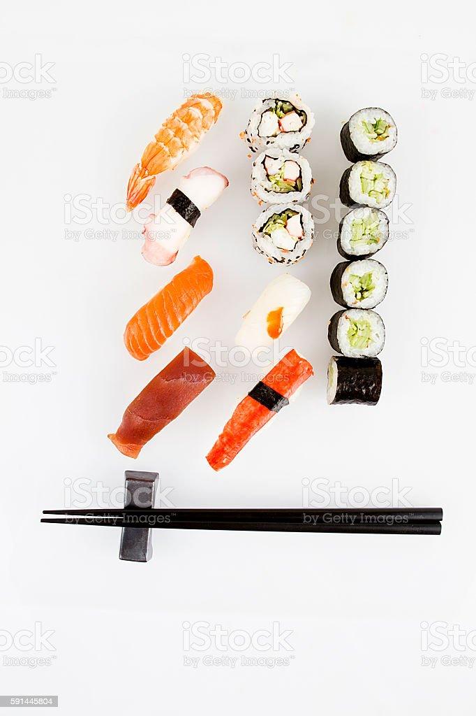 sushi bar stock photo