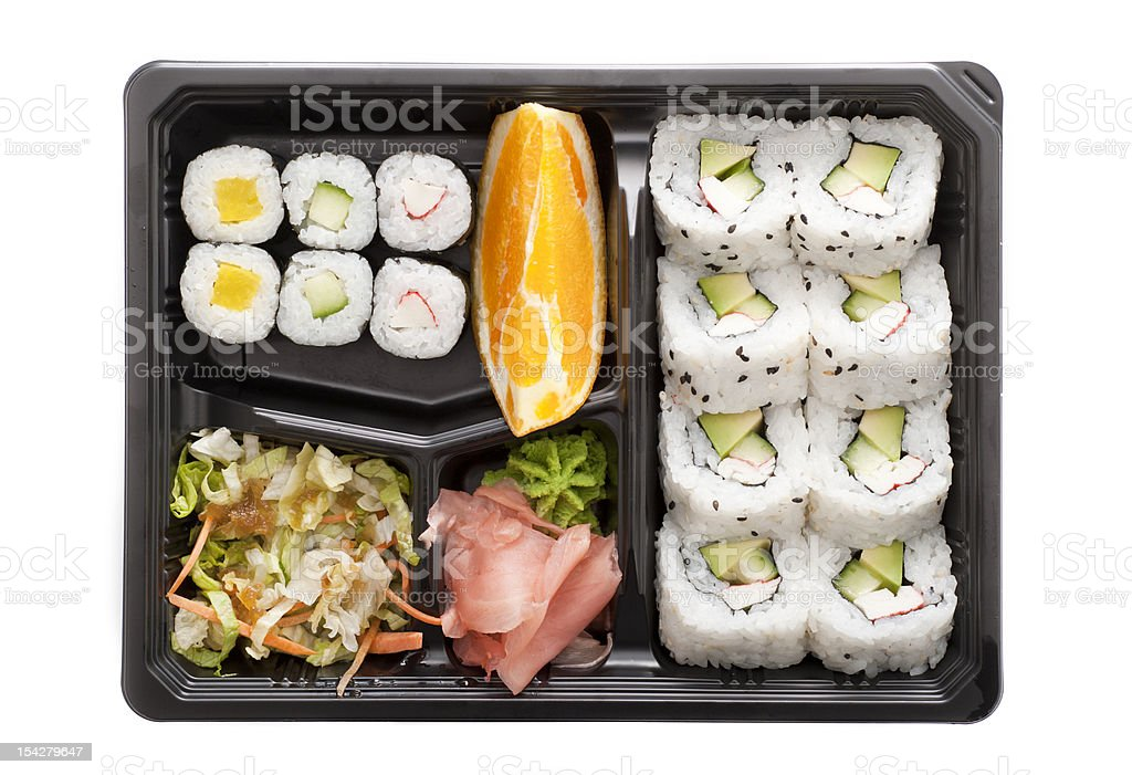 Sushi bento box stock photo