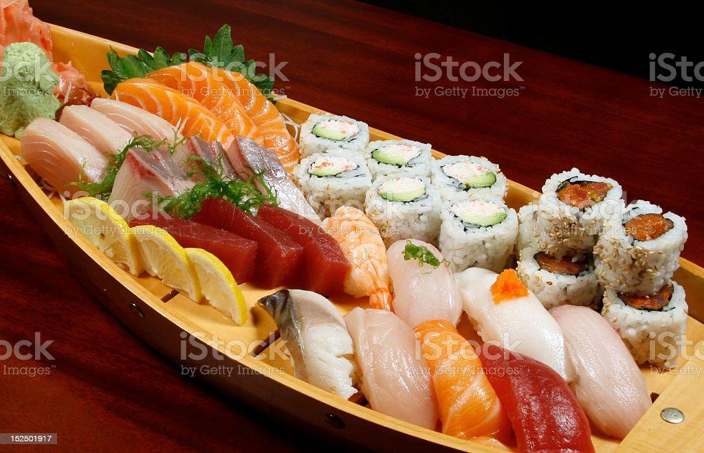 sushi boat royalty-free stock photo