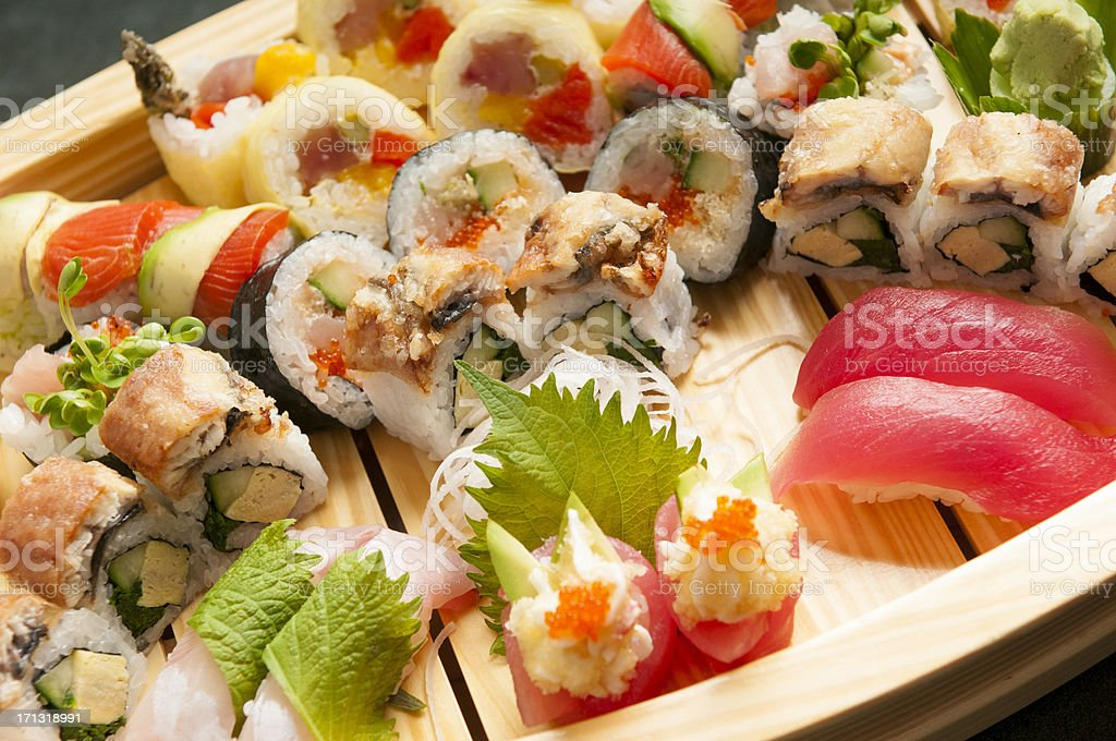 Sushi Boat royalty-free stock photo