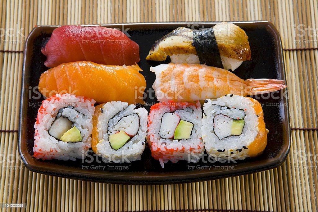 sushi box royalty-free stock photo