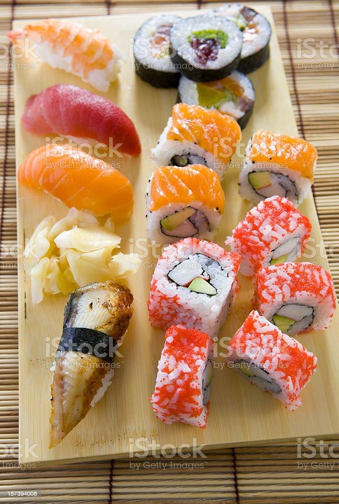 sushi box stock photo