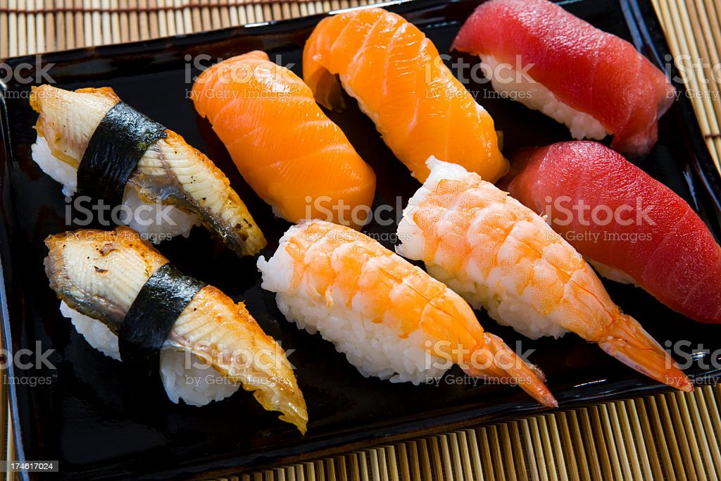 Sushi box royalty-free stock photo