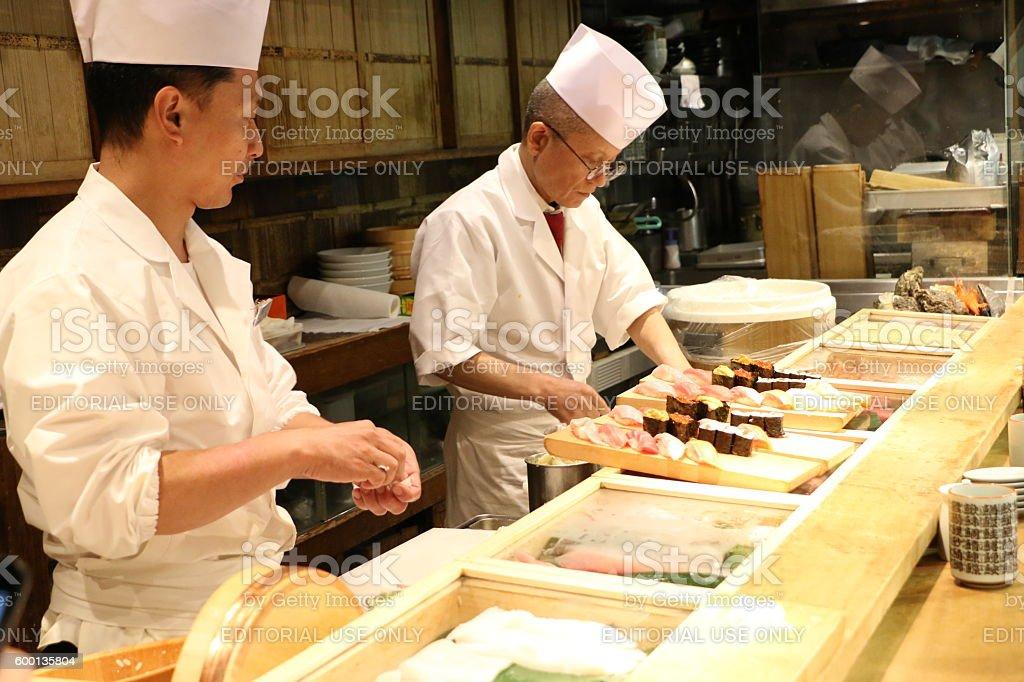 Sushi Chefs stock photo