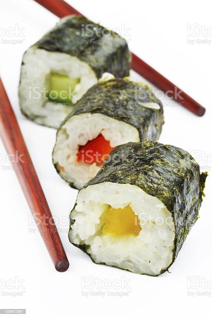 Sushi close up royalty-free stock photo