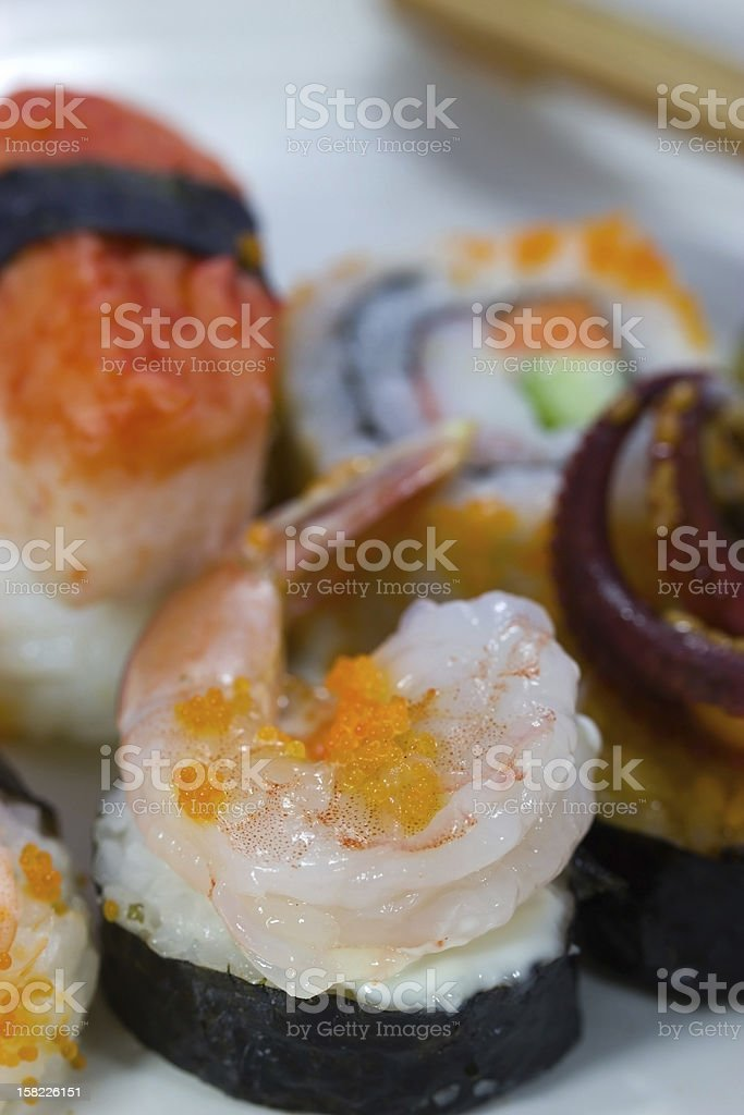 Sushi, close-up. royalty-free stock photo