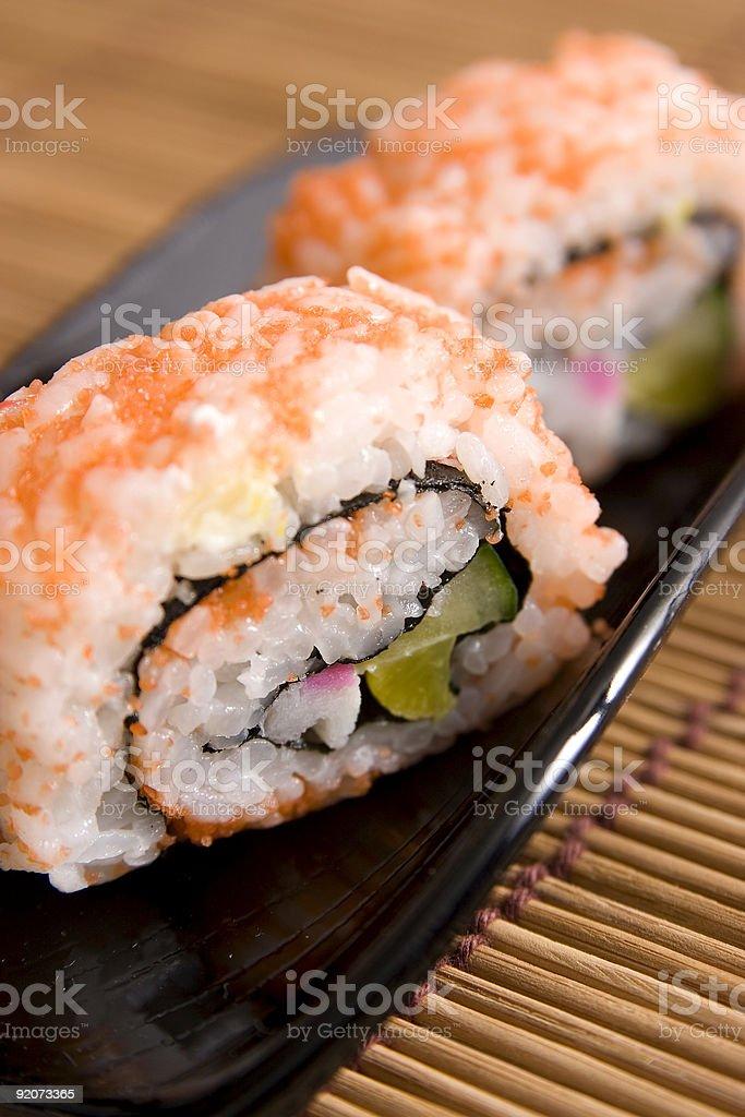 Sushi closeup royalty-free stock photo