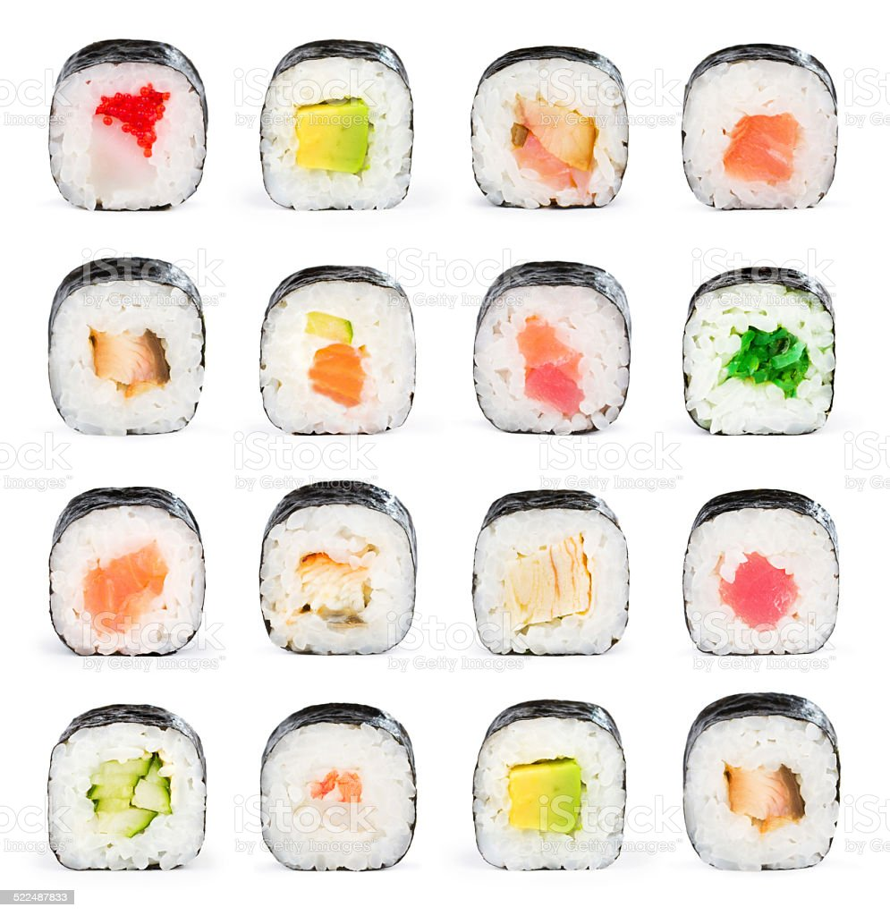 Sushi collage stock photo