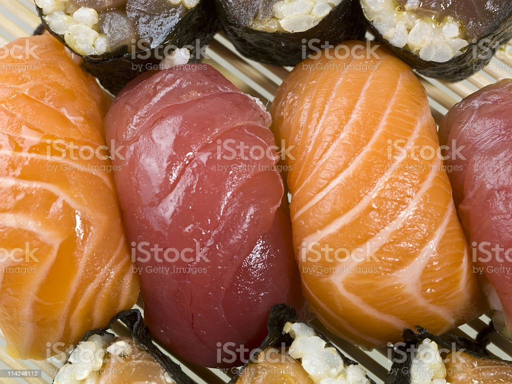 Sushi combination close up royalty-free stock photo