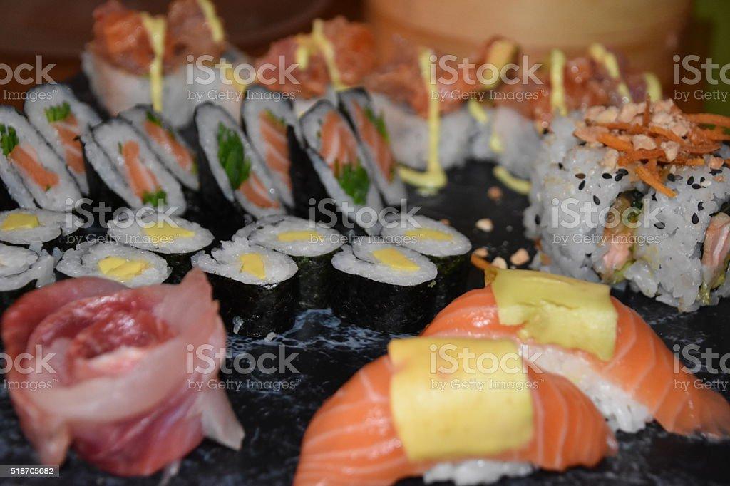 Sushi Combination stock photo