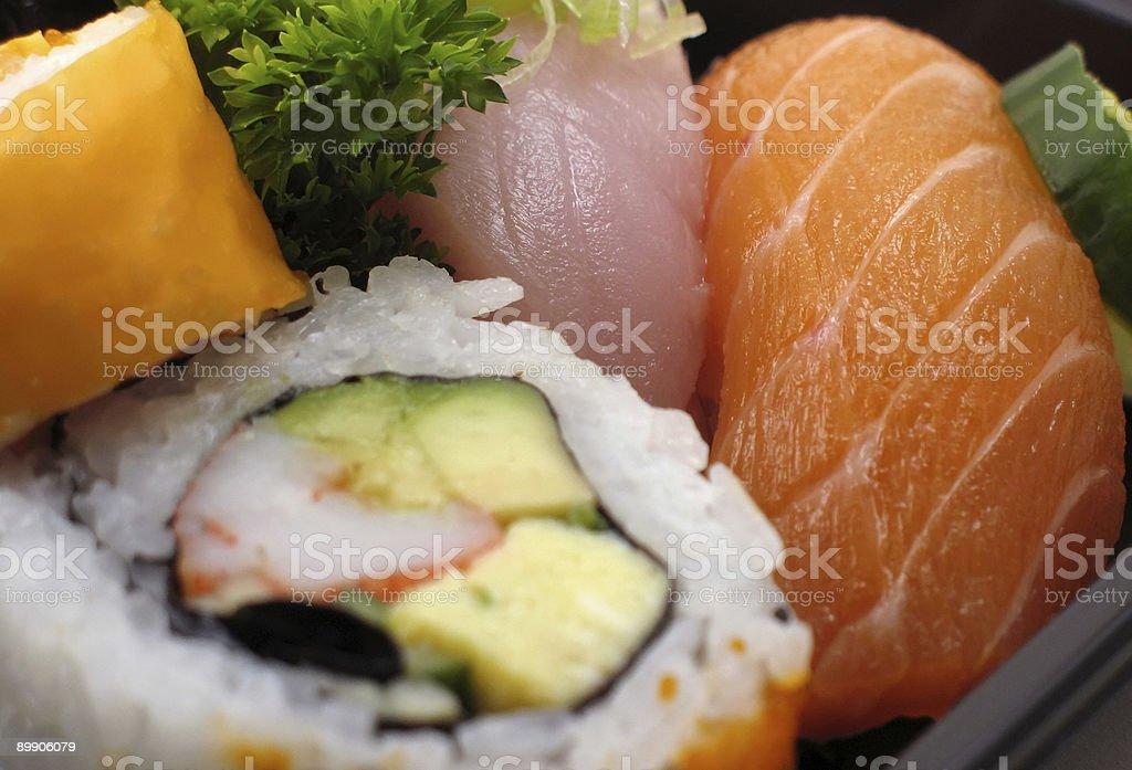 Sushi combo in macro royalty-free stock photo