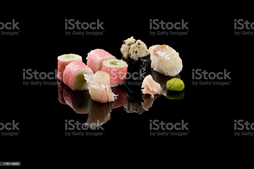 Sushi -  combo set royalty-free stock photo