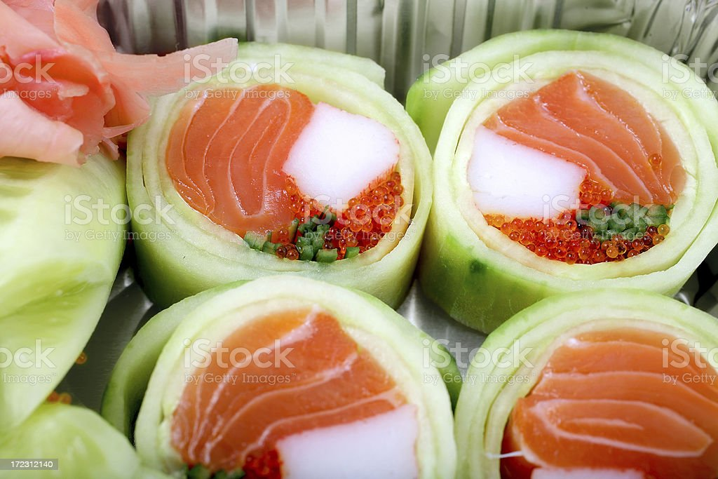 Sushi - Cucumber Rolls royalty-free stock photo