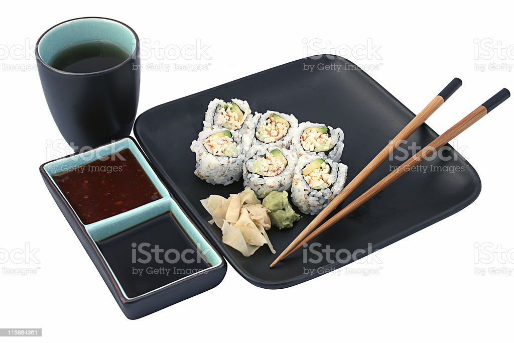 Sushi Dinner Isolated royalty-free stock photo