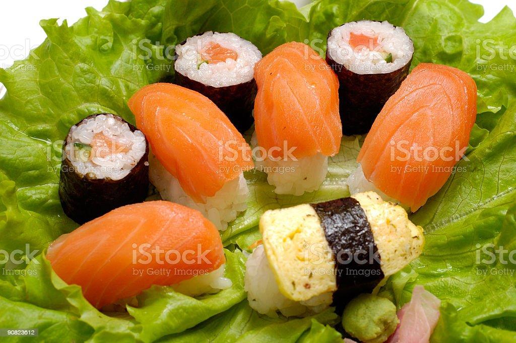 Sushi dish close-up royalty-free stock photo