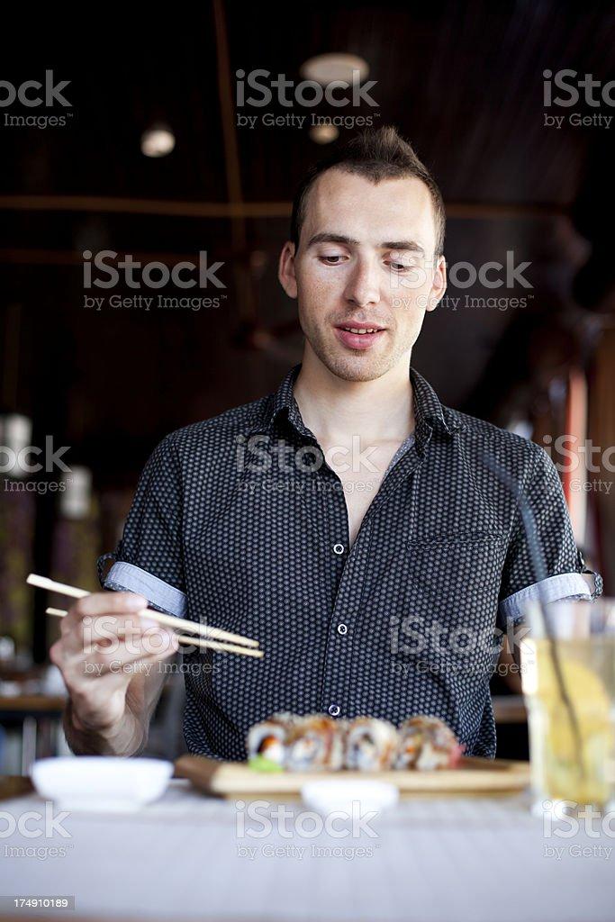 Sushi Eating royalty-free stock photo